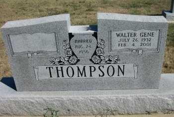 THOMPSON, WALTER GENE - Cooke County, Texas | WALTER GENE THOMPSON - Texas Gravestone Photos