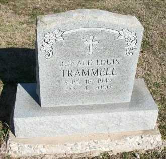 TRAMMELL, RONALD LOUIS - Cooke County, Texas | RONALD LOUIS TRAMMELL - Texas Gravestone Photos