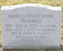 BRYANT TRAMMELL, RACHEL CATHERINE - Cooke County, Texas | RACHEL CATHERINE BRYANT TRAMMELL - Texas Gravestone Photos