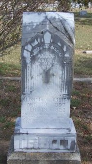 TRUITT, KLONNIE VICTORIA - Cooke County, Texas | KLONNIE VICTORIA TRUITT - Texas Gravestone Photos