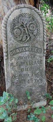 WALLACE, CHARLOTTE G. - Cooke County, Texas | CHARLOTTE G. WALLACE - Texas Gravestone Photos