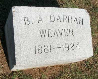 WEAVER, BERTHA AGNES DARRAH - Cooke County, Texas | BERTHA AGNES DARRAH WEAVER - Texas Gravestone Photos