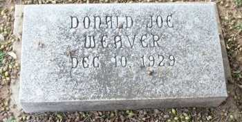 WEAVER, DONALD JOE - Cooke County, Texas | DONALD JOE WEAVER - Texas Gravestone Photos