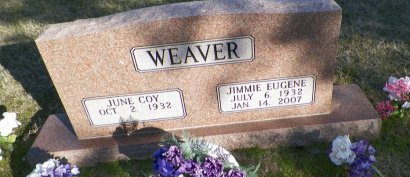 WEAVER, JIMMIE EUGENE - Cooke County, Texas | JIMMIE EUGENE WEAVER - Texas Gravestone Photos
