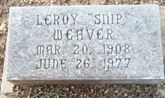 WEAVER, LEROY - Cooke County, Texas | LEROY WEAVER - Texas Gravestone Photos