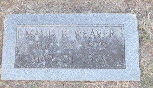 WEAVER, MAUD - Cooke County, Texas | MAUD WEAVER - Texas Gravestone Photos