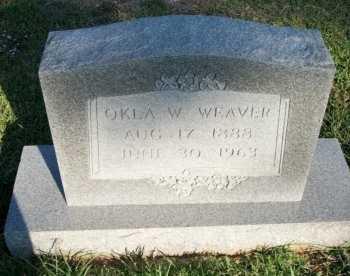 WEAVER, OKLA W. - Cooke County, Texas | OKLA W. WEAVER - Texas Gravestone Photos