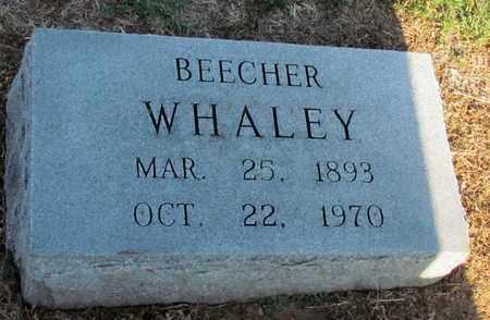 WHALEY, BEECHER - Cooke County, Texas | BEECHER WHALEY - Texas Gravestone Photos