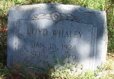 WHALEY, LOYD - Cooke County, Texas   LOYD WHALEY - Texas Gravestone Photos