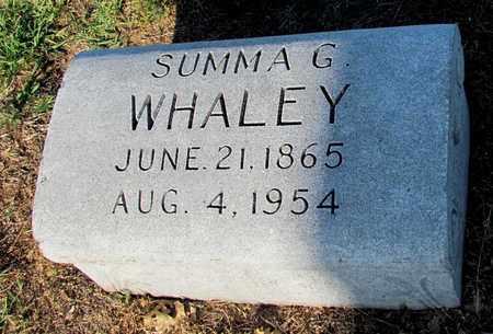 WHALEY, SUMMA G. - Cooke County, Texas | SUMMA G. WHALEY - Texas Gravestone Photos