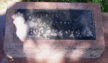 """WHALEY, TROUSEDALE LAMAR """"TROUSE"""" - Cooke County, Texas 