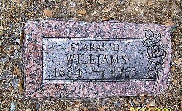 WILLIAMS, CLARA D. - Coryell County, Texas | CLARA D. WILLIAMS - Texas Gravestone Photos