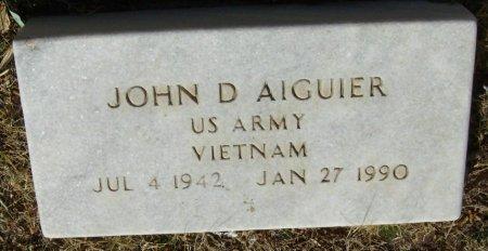 AIGUIER (VETERAN VIET), JOHN D. - Crockett County, Texas | JOHN D. AIGUIER (VETERAN VIET) - Texas Gravestone Photos