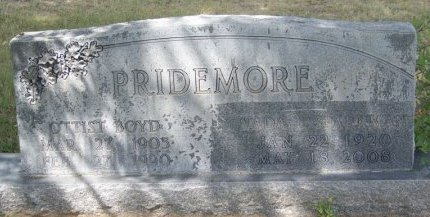PRIDEMORE, OTTIST BOYD - Crockett County, Texas | OTTIST BOYD PRIDEMORE - Texas Gravestone Photos