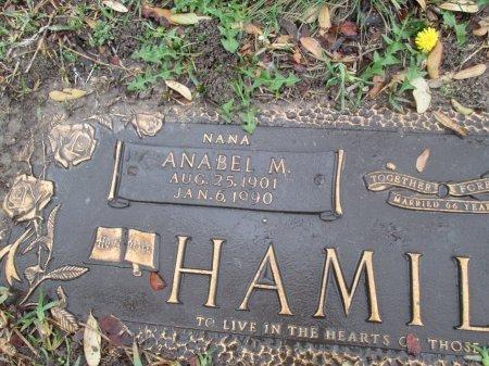 HAMILTON, ANABEL M. (CLOSEUP) - Dallas County, Texas | ANABEL M. (CLOSEUP) HAMILTON - Texas Gravestone Photos