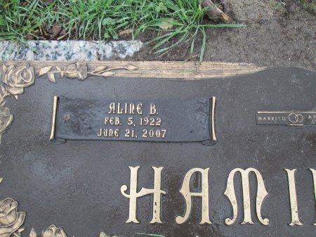 HAMILTON, ALINE B. (CLOSEUP) - Dallas County, Texas | ALINE B. (CLOSEUP) HAMILTON - Texas Gravestone Photos