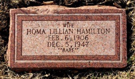 HAMILTON, HOMA LILLIAN - Dallas County, Texas | HOMA LILLIAN HAMILTON - Texas Gravestone Photos
