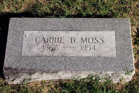 MOSS, CARRIE B. - Dallas County, Texas   CARRIE B. MOSS - Texas Gravestone Photos
