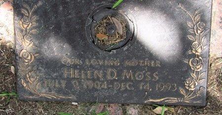 MOSS, HELEN D. - Dallas County, Texas | HELEN D. MOSS - Texas Gravestone Photos