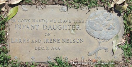 NELSON, INFANT DAUGHTER - Dallas County, Texas | INFANT DAUGHTER NELSON - Texas Gravestone Photos