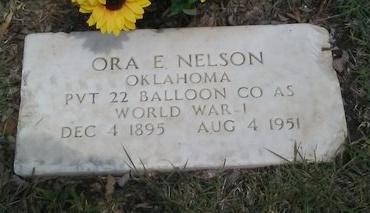 NELSON (VETERAN WWI), ORA E - Dallas County, Texas   ORA E NELSON (VETERAN WWI) - Texas Gravestone Photos