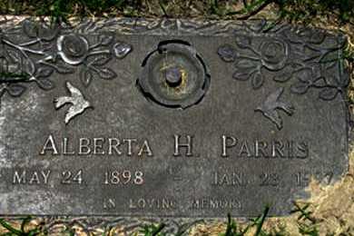 PARRIS, ALBERTA H. - Dallas County, Texas | ALBERTA H. PARRIS - Texas Gravestone Photos