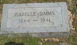 SIMMS, ISABELLE - Dallas County, Texas | ISABELLE SIMMS - Texas Gravestone Photos