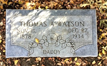 WATSON, THOMAS A. - Dallas County, Texas | THOMAS A. WATSON - Texas Gravestone Photos