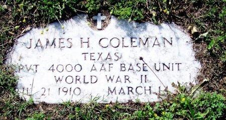COLEMAN (VETERAN WWII), JAMES H - DeWitt County, Texas | JAMES H COLEMAN (VETERAN WWII) - Texas Gravestone Photos