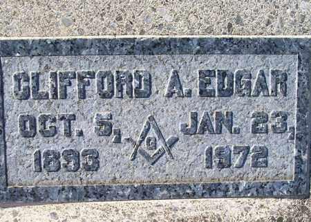 EDGAR, CLIFFORD ARTHUR - DeWitt County, Texas | CLIFFORD ARTHUR EDGAR - Texas Gravestone Photos