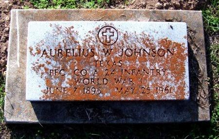 JOHNSON (VETERAN WWI), AURELIUS W - DeWitt County, Texas | AURELIUS W JOHNSON (VETERAN WWI) - Texas Gravestone Photos