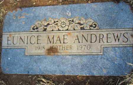 ANDREWS, EUNICE MAE - Deaf Smith County, Texas   EUNICE MAE ANDREWS - Texas Gravestone Photos