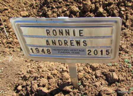 ANDREWS, RONNIE - Deaf Smith County, Texas   RONNIE ANDREWS - Texas Gravestone Photos
