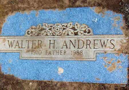 ANDREWS, WALTER H - Deaf Smith County, Texas   WALTER H ANDREWS - Texas Gravestone Photos
