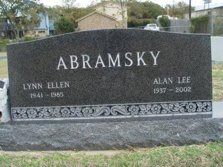 ABRAMSKY, LYNN ELLEN - Denton County, Texas | LYNN ELLEN ABRAMSKY - Texas Gravestone Photos