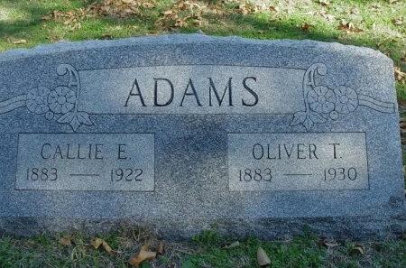 ADAMS, OLIVER T. - Denton County, Texas | OLIVER T. ADAMS - Texas Gravestone Photos