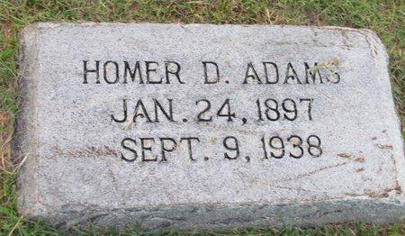 ADAMS, HOMER D. - Denton County, Texas | HOMER D. ADAMS - Texas Gravestone Photos
