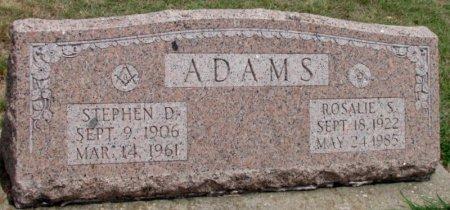 ADAMS, ROSALIE S. - Denton County, Texas   ROSALIE S. ADAMS - Texas Gravestone Photos