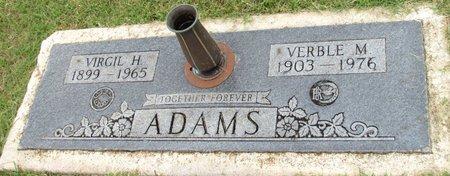 ADAMS, VIRGIL H. - Denton County, Texas | VIRGIL H. ADAMS - Texas Gravestone Photos