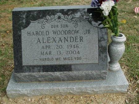 ALEXANDER, JR., HAROLD WOODROW - Denton County, Texas | HAROLD WOODROW ALEXANDER, JR. - Texas Gravestone Photos