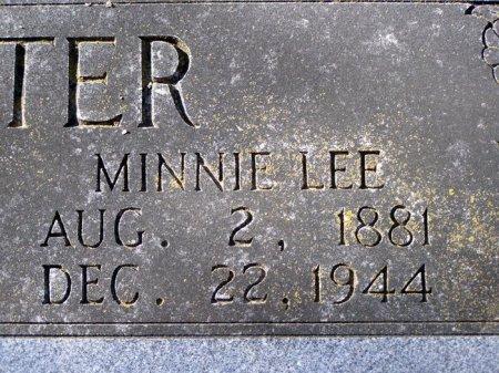 CARTER, MINNIE LEE (CLOSE UP) - Denton County, Texas | MINNIE LEE (CLOSE UP) CARTER - Texas Gravestone Photos