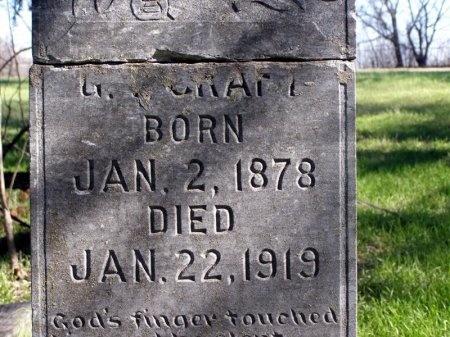 CRAFT, G. T. (CLOSE UP) - Denton County, Texas   G. T. (CLOSE UP) CRAFT - Texas Gravestone Photos