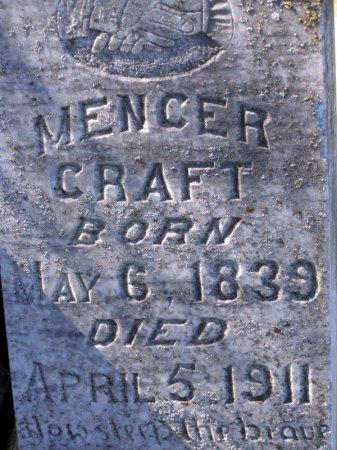 CRAFT, MENCER (CLOSE UP) - Denton County, Texas   MENCER (CLOSE UP) CRAFT - Texas Gravestone Photos