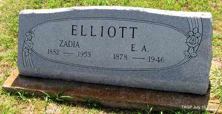 ELLIOTT, ZADIA - Denton County, Texas | ZADIA ELLIOTT - Texas Gravestone Photos