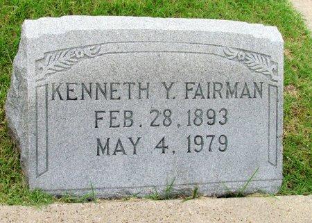 FAIRMAN, KENNETH Y. - Denton County, Texas | KENNETH Y. FAIRMAN - Texas Gravestone Photos