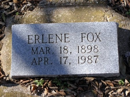 FOX, ERLENE - Denton County, Texas | ERLENE FOX - Texas Gravestone Photos