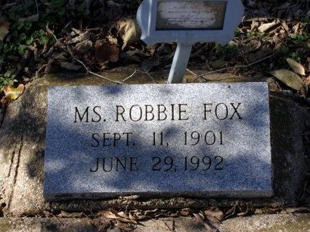 FOX, ROBBIE, MS. - Denton County, Texas   ROBBIE, MS. FOX - Texas Gravestone Photos