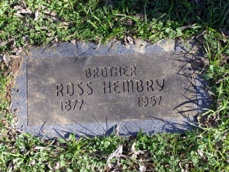 HEMBRY, ROSS - Denton County, Texas | ROSS HEMBRY - Texas Gravestone Photos