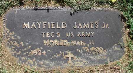 JAMES, JR (VETERAN WWII), MAYFIELD - Denton County, Texas   MAYFIELD JAMES, JR (VETERAN WWII) - Texas Gravestone Photos