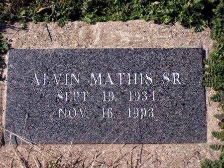 MATHIS, SR., ALVIN - Denton County, Texas | ALVIN MATHIS, SR. - Texas Gravestone Photos